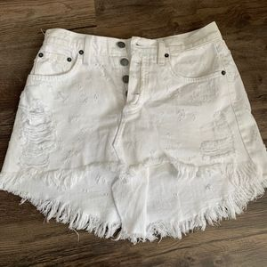 Carmar Denim White Skirt